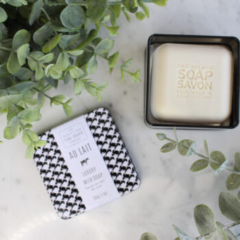 Scottisch Fine Soaps zeep in een tin box Au Lait