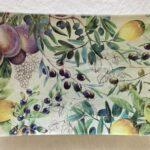 Glazen zeepschaaltje Tuscan grove