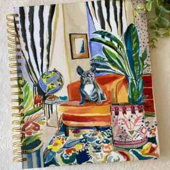 Punch Studio Notitieboek Frenchie de Bulldog